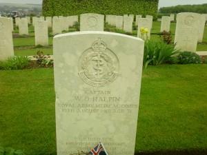 British soldier's grave stone at Villers - Bretonnuex