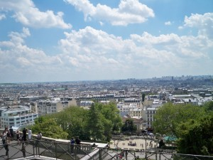 The view from the top of Montmartre, in front of Sacré-Cœur. Absolutely beautiful!