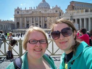 Claire and I visited  St. Peter's Square