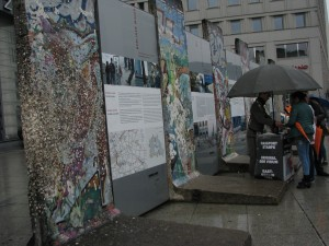 Commercialization of the Wall. You can pay to have your passport stamped here.