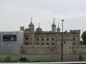 Tower of London, originally built by William the Conqueror.
