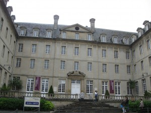 The entrance to the Bayeux Tapestry Museum. No photos were allowed inside.