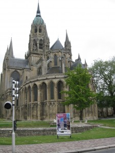 Bayeux Cathedral where the tapestry was originally hung