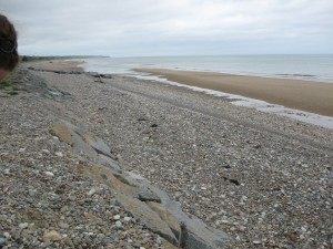 Omaha Beach, one of the American D-Day landing beaches