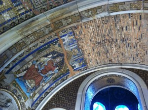 Inside the Kaiser Wilhelm Memorial Church.