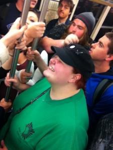 Stephenie, James, Zack, and Stephani in the metro