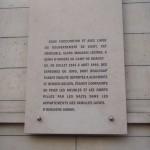 Plaque explaining Lévitan's role during WWII