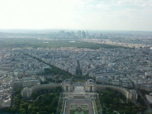 Sky View from the top of the Eiffel Tower