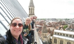 Laura and gang up the Minster