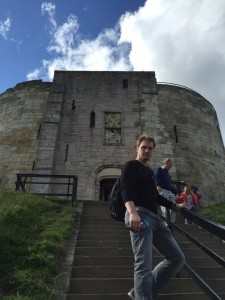 Evan at Clifford's Tower